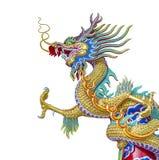 китайская статуя дракона Стоковая Фотография