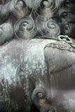 Китайская статуя льва - близкое поднимающее вверх Стоковое фото RF