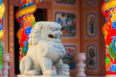 китайская статуя льва Стоковое фото RF