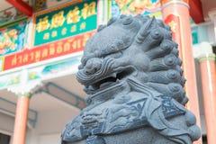 китайская статуя льва Стоковое Изображение