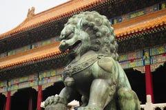 китайская статуя льва Стоковые Изображения