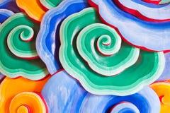 китайская стена виска картины облака Стоковые Изображения RF
