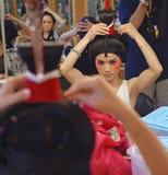 Китайская сторона картины актрисы оперы на кулуарном стоковые изображения