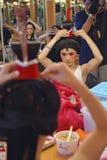 Китайская сторона картины актрисы оперы на кулуарном Стоковое Фото