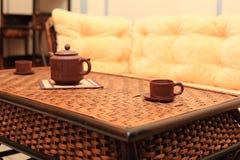 китайская таблица ресторана wattled Стоковое Фото