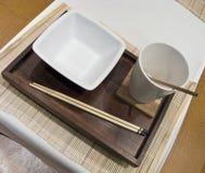 китайская таблица установки еды Стоковые Изображения