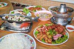 Китайская таблица еды Стоковое фото RF