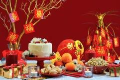 Китайская таблица партии Нового Года стоковое фото