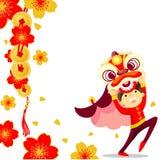 Китайская танцулька льва Стоковые Изображения