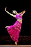 китайская танцулька dai этническая стоковая фотография