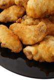 китайская тарелка китайская еда Зажаренный chichen крыла Стоковое фото RF