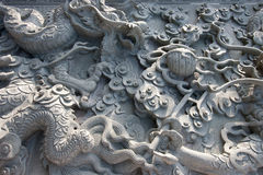 Китайская текстура стены гранита Стоковые Фотографии RF