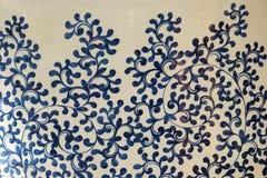 Китайская традиционная керамическая картина цветка стоковая фотография