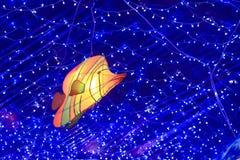 Китайская форма фонарика рыб моря Стоковое Фото