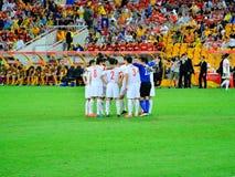 Китайская футбольная команда стоковое фото