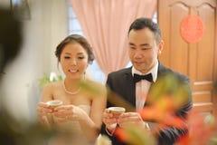 Китайская церемония чая свадьбы Стоковая Фотография RF