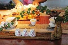 Китайская церемония чая Стоковые Изображения