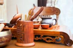 Китайская церемония чая Стоковое Изображение