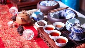 Китайская церемония чая Стоковая Фотография