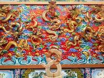 Китайская штукатурка дракона Стоковые Фотографии RF
