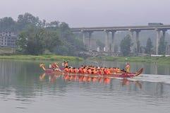 Китайская шлюпка дракона в фестивале шлюпки дракона Стоковые Изображения RF
