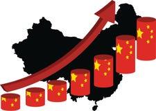 Китайская экономика поднимает Стоковое Изображение