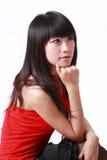 китайская девушка обдумывая Стоковые Фотографии RF