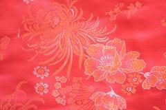 Китайская silk ткань Стоковые Изображения