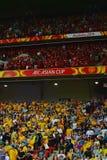 Китайские & австралийские сторонники футбола стоковая фотография rf