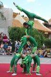 Китайские акробаты Стоковое Фото