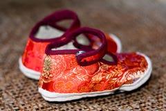 китайские ботинки традиционные стоковое изображение