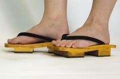 китайские ботинки Стоковые Фото