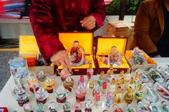 Китайские бутылки понюшки ремесел характеристики стоковая фотография rf