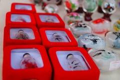 Китайские бутылки понюшки ремесел характеристики стоковое фото