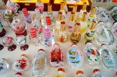 Китайские бутылки понюшки ремесел характеристики стоковое изображение rf