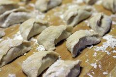 китайские вареники uncooked Стоковая Фотография RF
