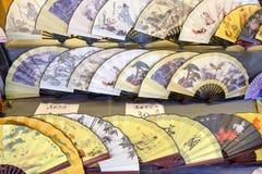 Китайские вентиляторы руки стоковое фото rf