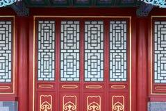 Китайские двери и окно Стоковое Изображение RF