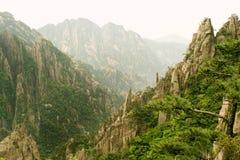 китайские вечные горы ландшафтов Стоковое Изображение
