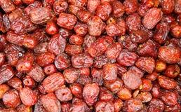 китайские высушенные сделанные ямки jujubes стоковое изображение