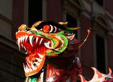 Китайские глаза маски дракона Стоковое Изображение