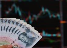 китайские деньги Стоковое Изображение