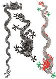 китайские драконы Стоковое Изображение RF