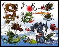 китайские драконы Стоковая Фотография