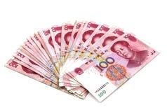 Китайские деньги юаней Стоковая Фотография
