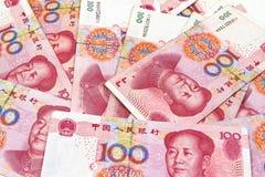 Китайские деньги юаней Стоковое фото RF