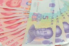 китайские деньги Стоковое Изображение RF