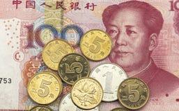 китайские деньги Стоковая Фотография RF