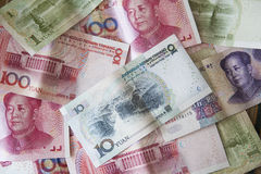 китайские деньги yuan Стоковое Изображение