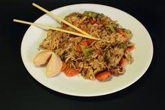 Китайские еда, лапши и овощи Стоковое Изображение